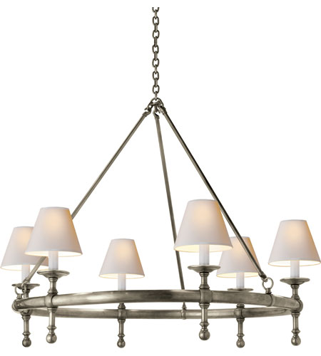 Visual Comfort SL5812AN-NP E. F. Chapman Classic 6 Light 33 inch Antique  Nickel Chandelier Ceiling - Visual Comfort SL5812AN-NP E. F. Chapman Classic 6 Light 33 Inch