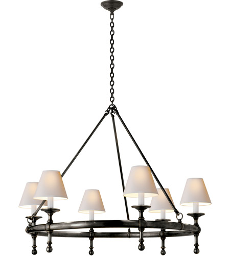 Visual Comfort SL5812BZ-NP E. F. Chapman Classic 6 Light 33 inch Bronze Chandelier Ceiling Light photo