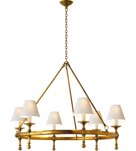Visual Comfort SL5812HAB-NP E. F. Chapman Classic 6 Light 33 inch Hand-Rubbed Antique Brass Chandelier Ceiling Light photo