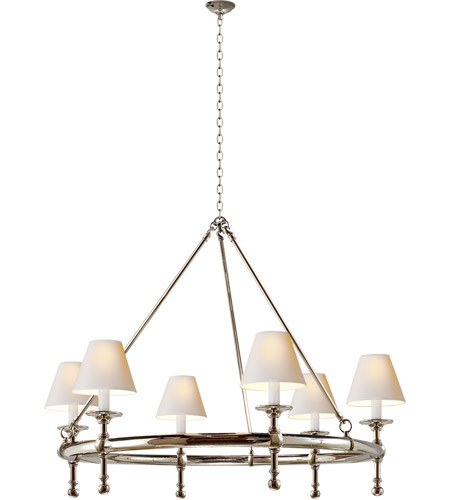 Visual Comfort SL5812PN-NP E. F. Chapman Classic 6 Light 33 inch Polished Nickel Chandelier Ceiling Light photo
