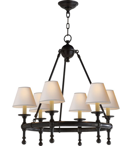 Visual Comfort SL5814BZ-NP E.F. Chapman Classic 6 Light 26 inch Bronze Chandelier Ceiling Light photo