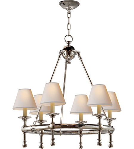 Visual comfort sl5814pn np e f chapman classic 6 light 26 inch visual comfort sl5814pn np e f chapman classic 6 light 26 inch polished nickel chandelier ceiling light aloadofball Image collections