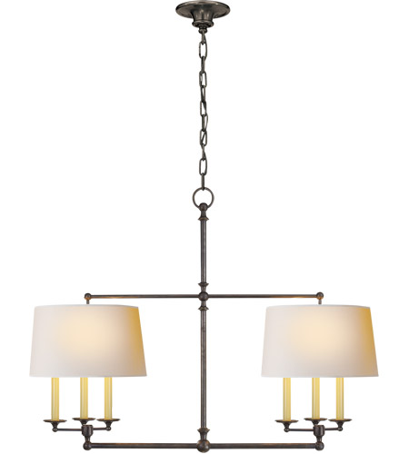 Visual Comfort SL5816BZ-NP E. F. Chapman Classic 6 Light 42 inch Bronze Linear Pendant Ceiling Light photo