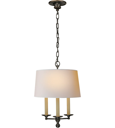 Visual Comfort SL5818BZ-NP E. F. Chapman Classic 3 Light 14 inch Bronze Hanging Shade Ceiling Light  photo