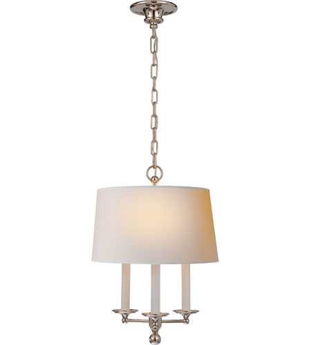 Visual comfort sl5818pn np e f chapman classic 3 light 14 inch visual comfort sl5818pn np e f chapman classic 3 light 14 inch polished nickel hanging shade ceiling light aloadofball Image collections
