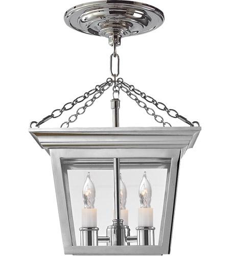 visual comfort sl5870pn e f chapman cornice 3 light 10 inch polished nickel semiflush ceiling light