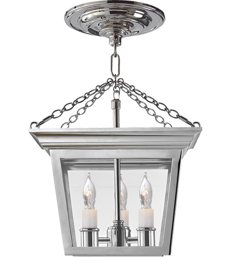 Visual Comfort SL5870PN E. F. Chapman Cornice 3 Light 10 inch Polished Nickel Semi-Flush Ceiling Light photo