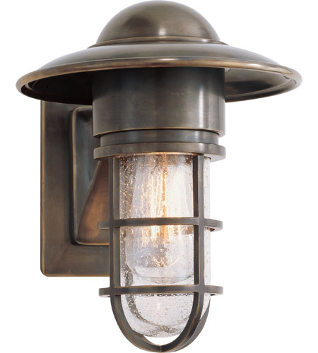 Visual Comfort E.F. Chapman Marine 1 Light Outdoor Wall Lantern in Bronze with Wax SLO2001BZ-SG