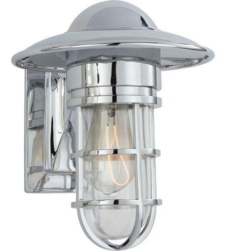 Visual comfort slo2001ch cg e f chapman marine 1 light 11 inch visual comfort slo2001ch cg e f chapman marine 1 light 11 inch chrome outdoor wall lantern in clear glass mozeypictures