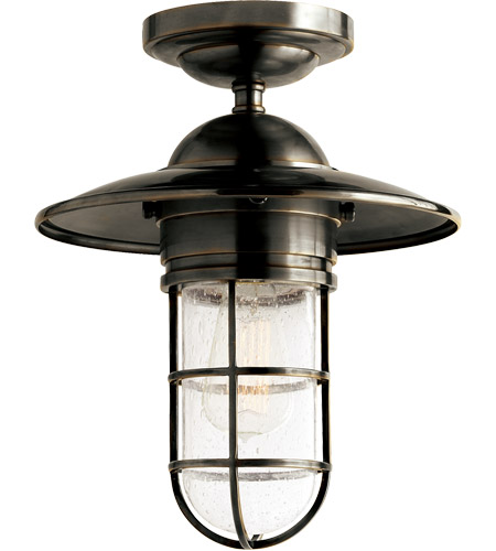Visual Comfort SLO4002BZ-SG E. F. Chapman Marine 1 Light 12 inch Bronze Outdoor Flush Mount in Seeded Glass photo