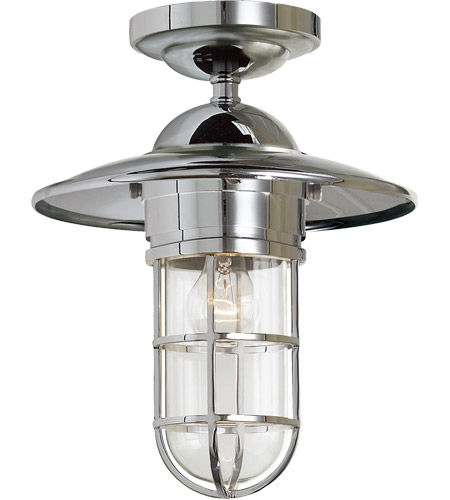 outdoor flush light flush mount visual comfort slo4002chcg e f chapman marine light 12 inch chrome outdoor flush mount in clear glass