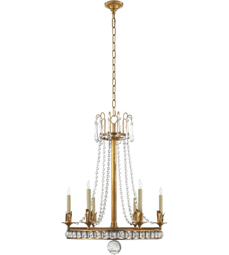 Visual Comfort SN5107HAB Joe Nye Regency 6 Light 22 inch Hand-Rubbed Antique Brass Chandelier Ceiling Light photo