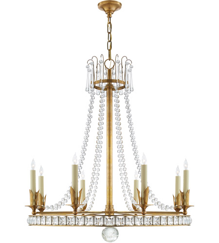 Visual Comfort SN5108HAB Joe Nye Regency 8 Light 31 inch Hand-Rubbed Antique Brass Chandelier Ceiling Light photo
