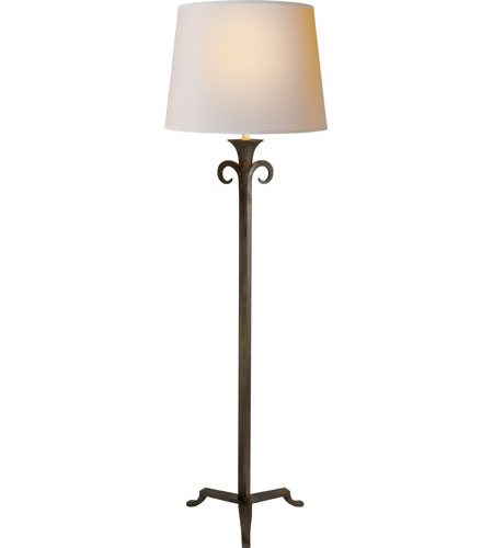 100 watt aged iron with wax decorative floor lamp portable light photo. Black Bedroom Furniture Sets. Home Design Ideas