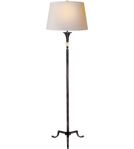 Visual Comfort SP1004AI-NP J. Randall Powers Maurice 61 inch 100 watt Aged Iron with Wax Decorative Floor Lamp Portable Light photo