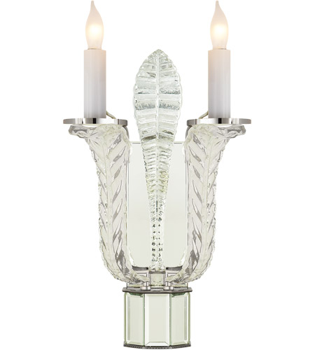 Visual Comfort SP2020PN J. Randall Powers Laura 2 Light 8 inch Crystal with Polished Nickel Accents Decorative Wall Light photo