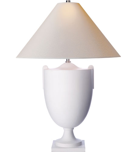 Visual Comfort SP3002PW NP Studio Belgravia 30 Inch 75 Watt Plaster White Decorative  Table Lamp Portable Light