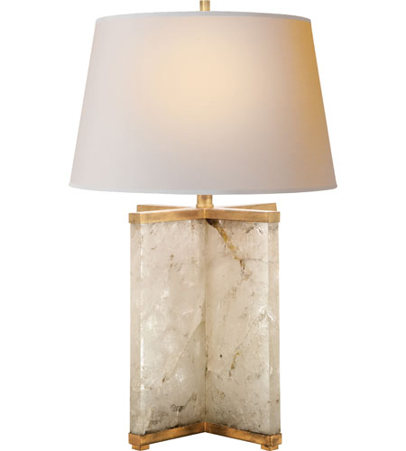 Visual Comfort SP3005Q NP J. Randall Powers Cameron 28 Inch 100 Watt Natural  Quartz Stone Decorative Table Lamp Portable Light In (None)