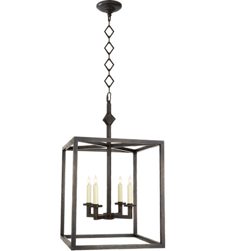 Visual Comfort SP5004AI J. Randall Powers Star 4 Light 18 inch Aged Iron Foyer Pendant Ceiling Light photo