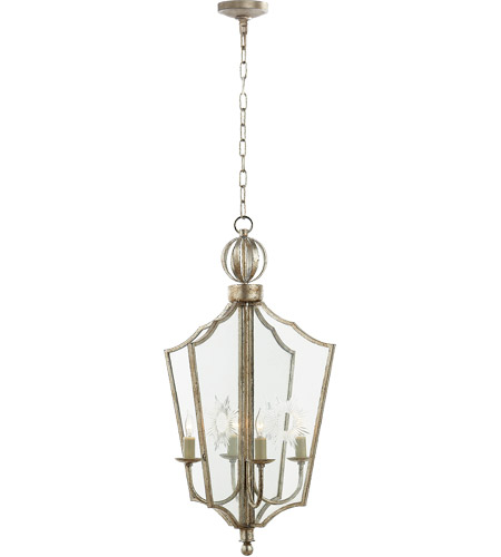 Visual Comfort SR5002BSL John Rosselli Maher 4 Light 13 inch Burnished Silver Leaf Pendant Ceiling Light photo