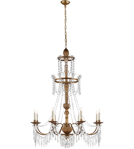 Visual Comfort SR5144AGW John Rosselli Princess Mari Ann 8 Light 37 inch Antique Gilded Wood Chandelier Ceiling Light photo