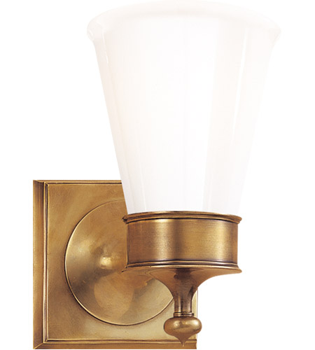 Visual Comfort SS2001HAB-WG Studio Siena 1 Light 5 inch Hand-Rubbed Antique Brass Bath Wall Light photo