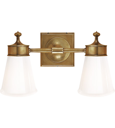 Visual Comfort SS2002HAB-WG Studio Siena 2 Light 15 inch Hand-Rubbed Antique Brass Bath Wall Light photo