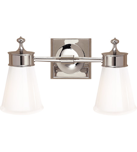 Visual Comfort SS2002PN-WG Studio Siena 2 Light 15 inch Polished Nickel Double Sconce Wall Light photo