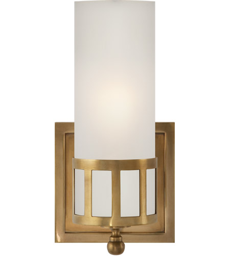Visual Comfort SS2011HAB-FG Studio Openwork 1 Light 5 inch Hand-Rubbed Antique Brass Bath Wall Light photo
