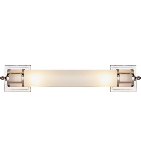 Visual Comfort Studio Openwork 2 Light Bath Wall Light in Polished Nickel SS2014PN-FG photo