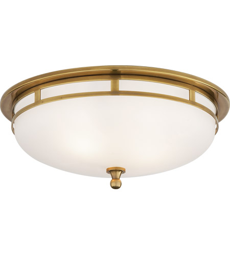 Visual Comfort Ss4011hab Fg Studio Openwork 2 Light 14 Inch Hand Rubbed Antique Br Flush Mount Ceiling