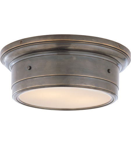 visual comfort studio light bronze flush mount ceiling fan led lights for kitchen hallway
