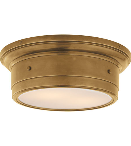 Visual Comfort Studio Siena 2 Light Flush Mount in Hand-Rubbed Antique Brass SS4015HAB-WG photo