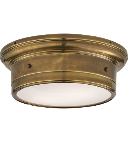 Visual Comfort SS4015HAB-WG Studio Siena 2 Light 12 inch Hand-Rubbed Antique Brass Flush Mount Ceiling Light photo