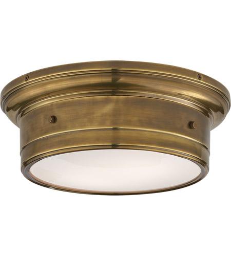Visual Comfort Ss4015hab Wg Studio Siena 2 Light 12 Inch Hand Rubbed Antique Br Flush Mount Ceiling