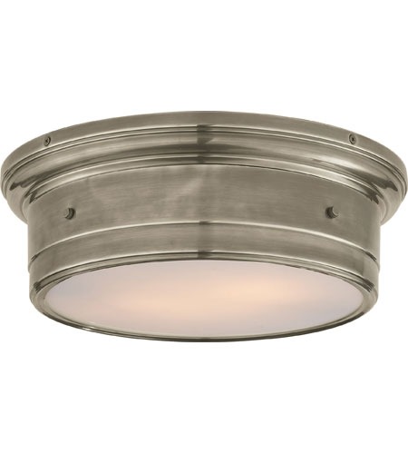 Visual comfort ss4016an wg studio siena 2 light 14 inch antique visual comfort ss4016an wg studio siena 2 light 14 inch antique nickel flush mount ceiling aloadofball Choice Image