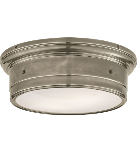 Visual Comfort Ss4016an Wg Studio Siena 2 Light 14 Inch Antique Nickel Flush Mount Ceiling