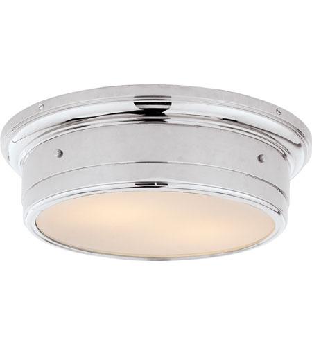 visual comfort ss4016chwg studio siena 2 light 14 inch chrome flush mount ceiling light
