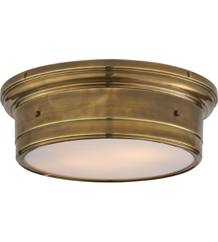 Visual comfort ss4016hab wg studio siena 2 light 14 inch hand visual comfort ss4016hab wg studio siena 2 light 14 inch hand rubbed antique brass flush mount ceiling light mozeypictures Images