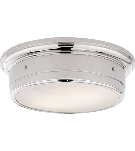 Visual Comfort SS4016PN-WG Studio Siena 2 Light 14 inch Polished Nickel Flush Mount Ceiling Light photo