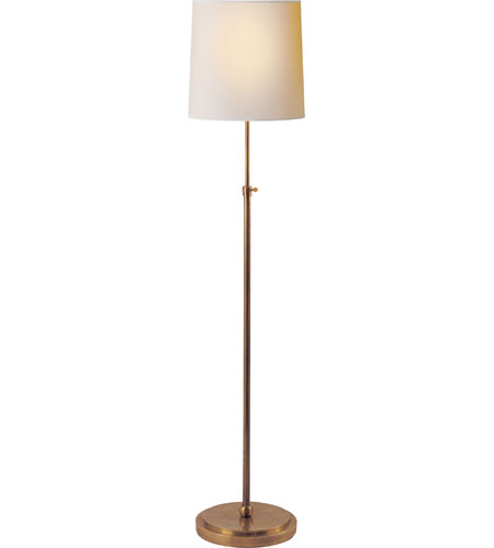 visual comfort tob1002hab np thomas obrien bryant 44 inch 100 watt hand rubbed antique - Decorative Floor Lamps