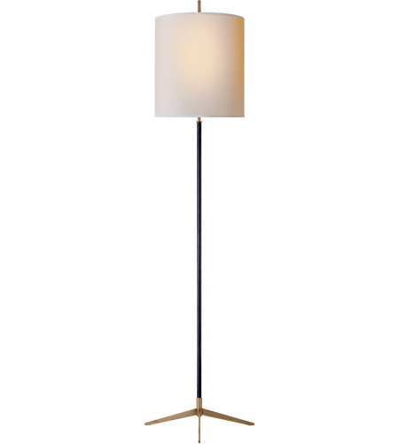 Visual Comfort TOB1153BZ/HAB NP Thomas OBrien Caron 68 Inch 60 Watt Bronze  With Antique Brass Floor Lamp Portable Light