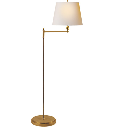 Visual Comfort TOB1201HAB-NP Thomas O'Brien Paulo 64 inch 150 watt Hand-Rubbed Antique Brass Decorative Floor Lamp Portable Light photo
