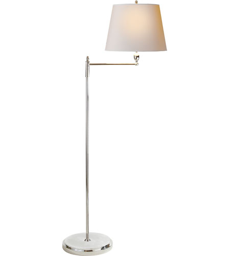 64 inch 100 watt polished nickel decorative floor lamp portable light. Black Bedroom Furniture Sets. Home Design Ideas