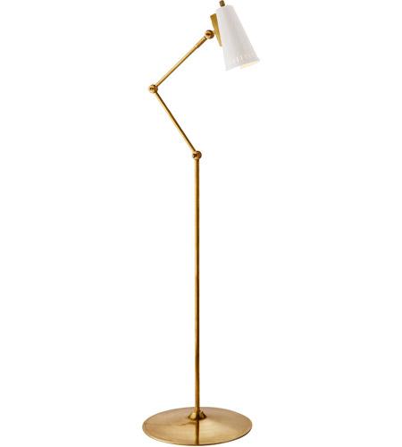 Thomas O Brien Antonio 43 Inch 75 Watt Hand Rubbed Antique Br Floor Lamp Portable Light In White