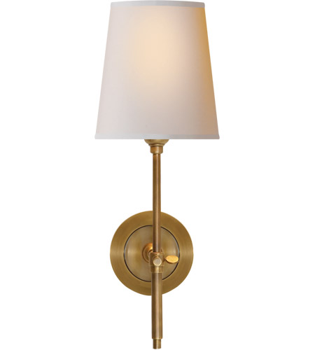 Visual Comfort TOB2002HAB-NP Thomas O'Brien Bryant 1 Light 6 inch Hand-Rubbed Antique Brass Decorative Wall Light photo