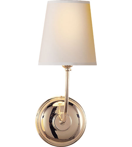 Visual Comfort TOB2007PN-NP Thomas OBrien Vendome 1 Light 6 inch Polished Nickel Decorative Wall Light photo
