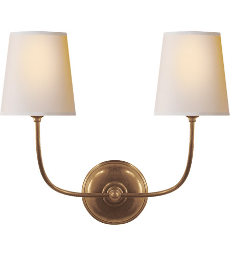 Visual Comfort TOB2008HAB-NP Thomas Obrien Vendome 2 Light 18 inch Hand-Rubbed Antique Brass Decorative Wall Light photo