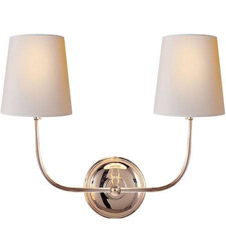 Visual Comfort TOB2008PN-NP Thomas OBrien Vendome 2 Light 18 inch Polished Nickel Decorative Wall Light photo