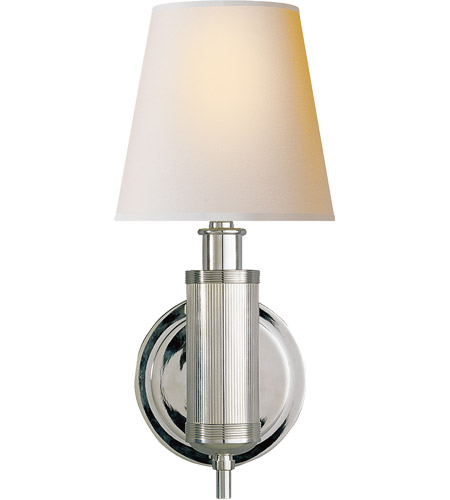 Visual Comfort TOB2010PN-NP Thomas O'Brien Longacre 1 Light 6 inch Polished Nickel Decorative Wall Light photo